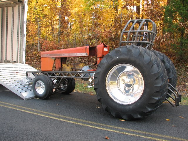 picture of 200 allis chalmers limited light super stock pulling tractor chassis Clifford Atkins